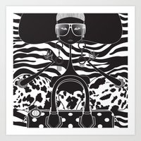 marc jacobs Art Prints featuring Marc Jacobs Close by Leandro Dario