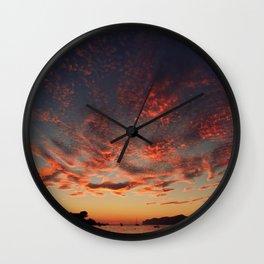 Sundown Mallorca Wall Clock