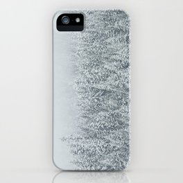 snow  forest winter trees iPhone Case