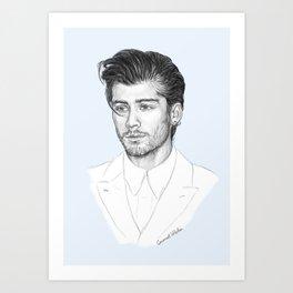 Zayn sketch Art Print