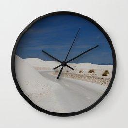 White Sand Reaches Up To The Horizon Wall Clock