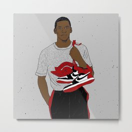 Young Air Jordan Metal Print