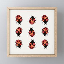 Lucky Ladybugs Framed Mini Art Print