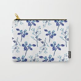 Winter Blue Berries Pattern Carry-All Pouch
