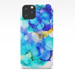 Abstract   Aquatic   Alcohol Ink Painting   Colorful iPhone Case