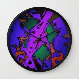 Evening flares Wall Clock