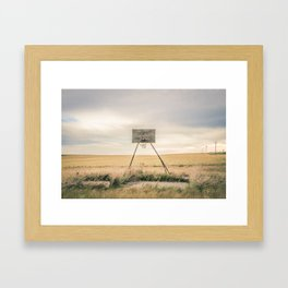 Basketball Hoop, Southview School, MT Framed Art Print
