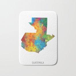 Guatemala Watercolor Map Bath Mat