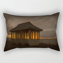 Pier Shelter Sunrise Rectangular Pillow