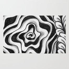 Doodled Rose & Vine Rug