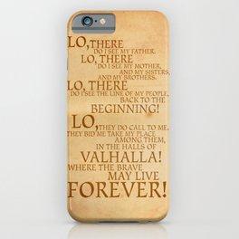Viking Prayer iPhone Case
