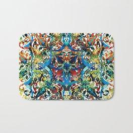 Bold Pattern Art - Color Fusion Design 8 By Sharon Cummings Bath Mat