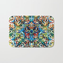 Bold Pattern Art - Color Fusion Design 8 By Sharon Cummings Bath Mat