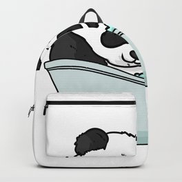 Bathtub panda Backpack