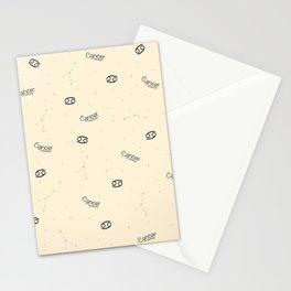 Cancer Pattern - Beige Stationery Cards