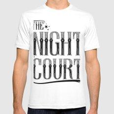 The Night Court MEDIUM Mens Fitted Tee White