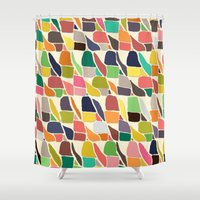 ikat Shower Curtains featuring ikat weave by Sharon Turner