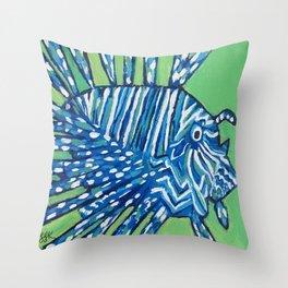 Lion Fish 2, a pretty predator & invasive species Throw Pillow