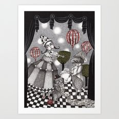 Alice's After Tea Concert Art Print