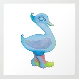 Snozzleberry Swanling Art Print