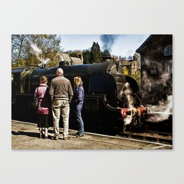 The Train Now Standing Canvas Print