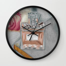 Rose and Vase Wall Clock