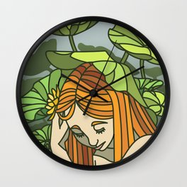 Lotus Capped Wall Clock