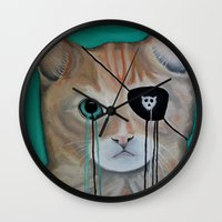 kit king Wall Clocks featuring Kit Furry by Prince Pat