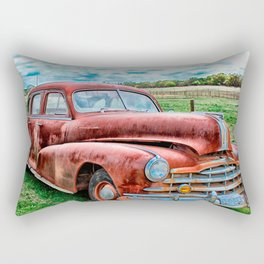 Oldsters Classic Car Vintage Automobile Old Rusty Rectangular Pillow