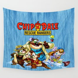 Chip and Dale Team Wall Tapestry