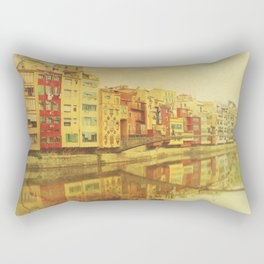 The river that reflects the city Rectangular Pillow