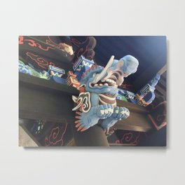 God of the decorative statue of the shrine Metal Print