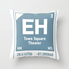 Town Square Theater element Throw Pillow