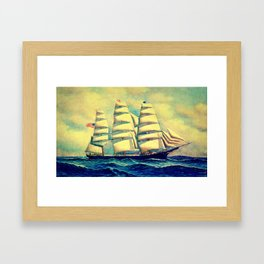 Ship at Sea Framed Art Print