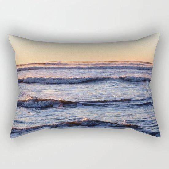 winter ocean Rectangular Pillow