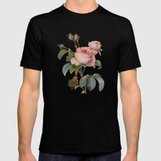 Roses Nostalgie LARGE Mens Fitted Tee Black