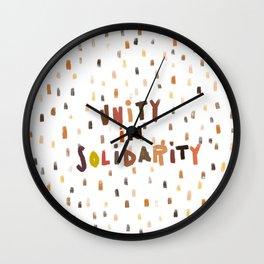 Unity in Solidarity Wall Clock