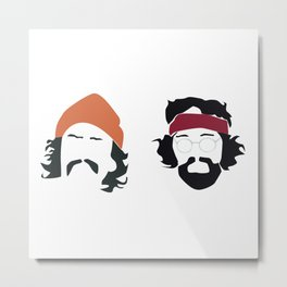 cheech and chong Metal Print