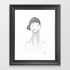 Sometimes it is too Tough Framed Art Print