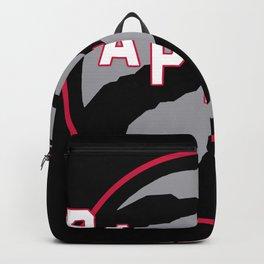 Raptors custom black logo Backpack