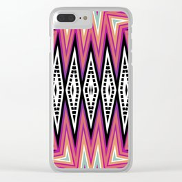 ZigZag Tribal Energy Clear iPhone Case