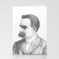 nietzsche Stationery Cards featuring Friedrich Nietzsche by tavislea
