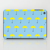 himym iPad Cases featuring HIMYM Yellow Umbrella by tralalavelling