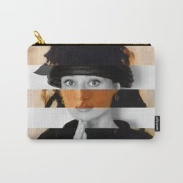"""Manet's """"Berthe Morisot with a Bouquet of Violets"""" & Audrey Hepburn Carry-All Pouch"""