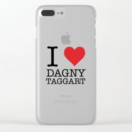 I Heart Dagny Taggart Clear iPhone Case