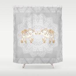 ALHAMBRA ELEPHANT GREY by Monika Strigel Shower Curtain