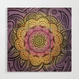Colorful Mandala Wood Wall Art