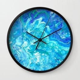 Aqua Ocean Blue Wall Clock