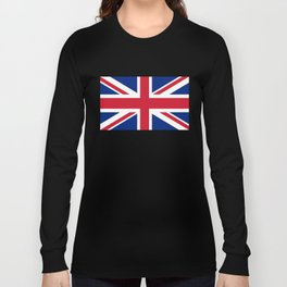 UK Flag, High Quality Authentic 3:5 Scale Long Sleeve T-shirt