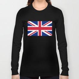 UK Flag, 3:5 Scale Long Sleeve T-shirt